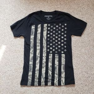 Ring of Fire America Flag Money Shirt